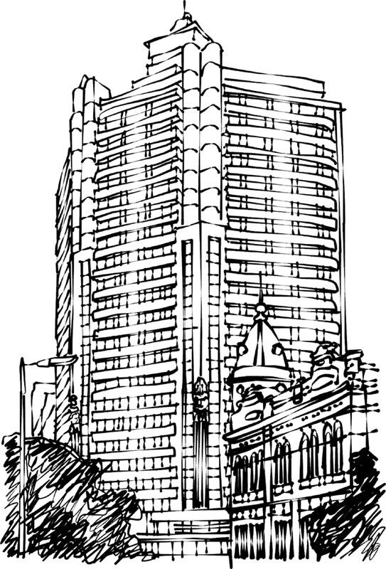 Desenho Edifício Acaiaca